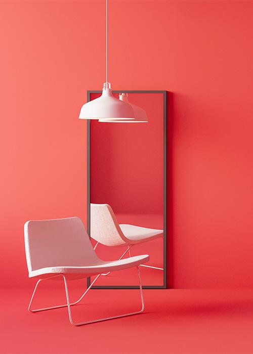 โคมไฟตั้งโต๊ะสีชมพู